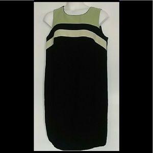 Jessica London Black & green dress, sleeveless.
